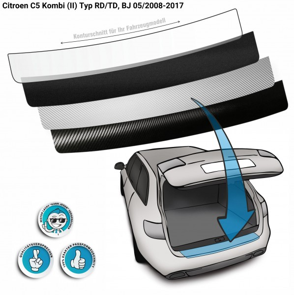 Lackschutzfolie Ladekantenschutz passend für Citroen C5 Kombi (II) Typ RD/TD, BJ 05/2008-2017