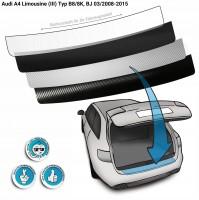 Lackschutzfolie Ladekantenschutz passend für Audi A4 Limousine (III) Typ B8/8K, BJ 03/2008-2015