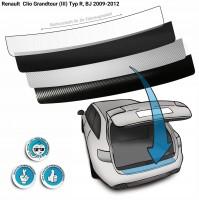 Lackschutzfolie Ladekantenschutz passend für Renault Clio Grandtour (III) Typ R, BJ 2009-2012