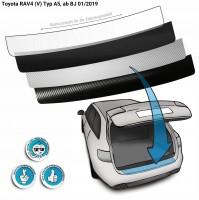 Lackschutzfolie Ladekantenschutz passend für Toyota RAV4 (V) Typ A5, ab BJ 01/2019