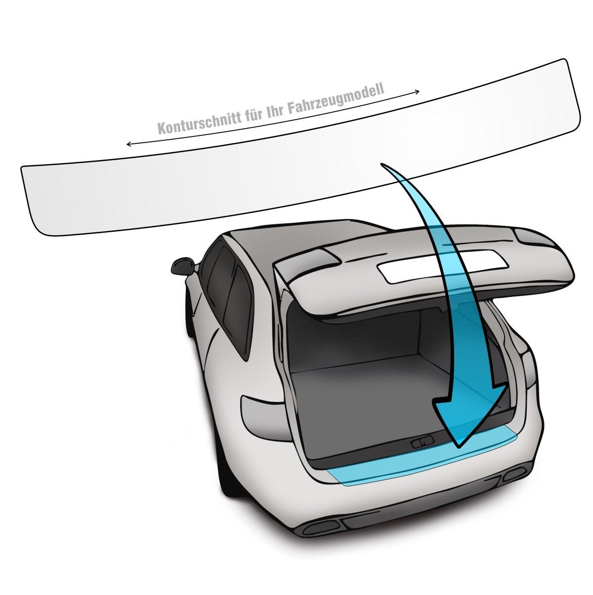 Lackschutzfolie Ladekantenschutz passend für VW Golf 8 VIII Limousine in transparent schwarz oder carbon