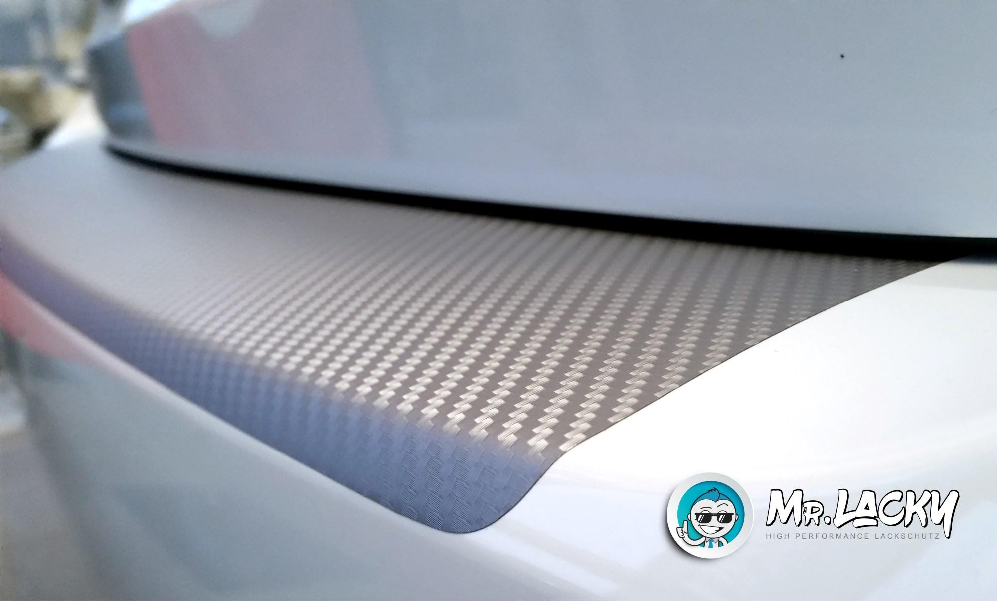 Typ RZ//AZ ab BJ 02//2017 in 3D Carbon schwarz MisterLacky VI Lackschutzfolie mit Rakel als Ladekantenschutz Folie passend f/ür Suzuki Swift 160/µm