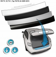 Lackschutzfolie Ladekantenschutz passend für VW T5 (V) T5.1, Typ 7H/7E, BJ 2009-2015